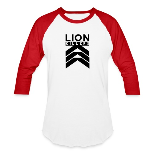 Lion Killers Logo - Red Range - Baseball T-Shirt
