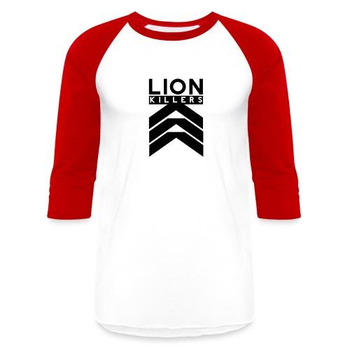 Lion Killers Logo - Red Range - Baseball T-Shirt