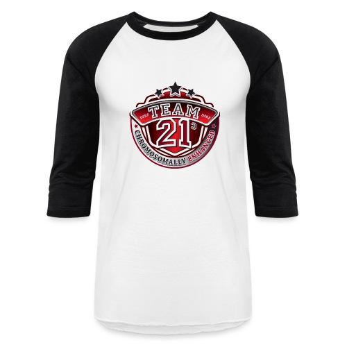 Team 21 - Chromosomally Enhanced (Red) - Baseball T-Shirt