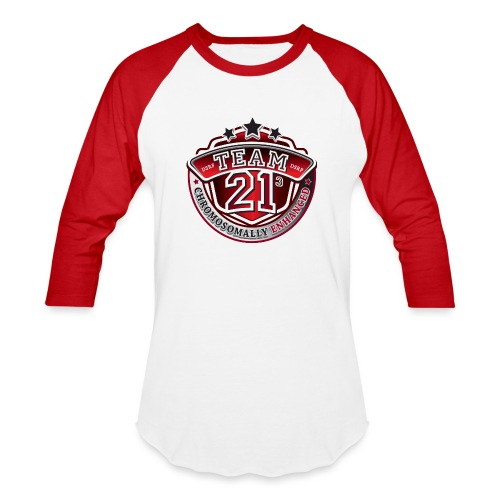 Team 21 - Chromosomally Enhanced (Red) - Baseball T-Shirt