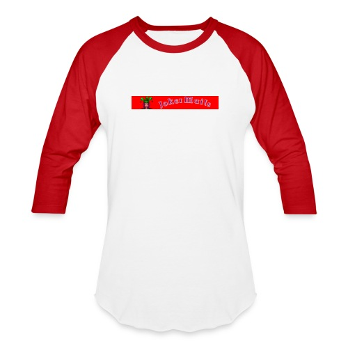 Joker Mails Header - Unisex Baseball T-Shirt