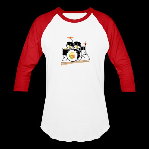 Sushi Roll Drum Set - Baseball T-Shirt