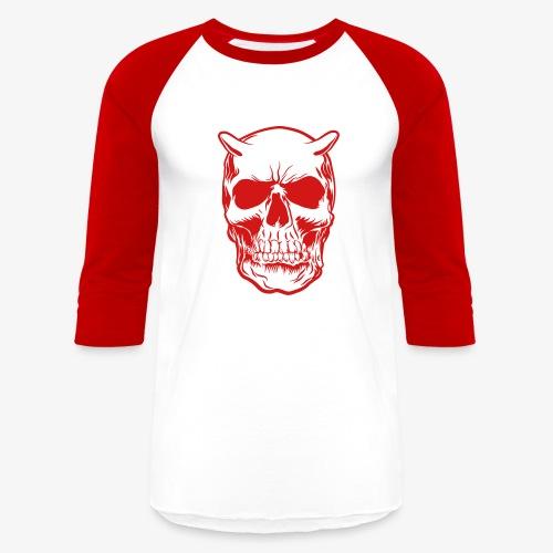 Big Face skull positif - Baseball T-Shirt