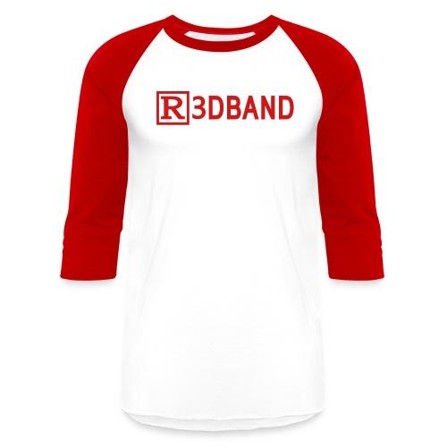 r3dbandtextrd - Baseball T-Shirt