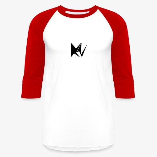 NK Transparent Black Logo - Unisex Baseball T-Shirt
