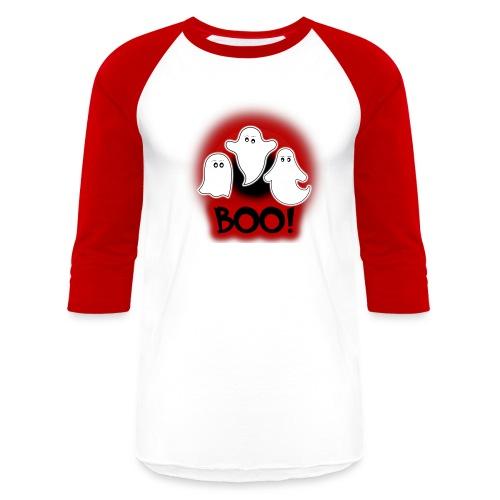 Ghosties Boo Happy Halloween 8 - Baseball T-Shirt