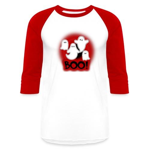Ghosties Boo Happy Halloween 9 - Baseball T-Shirt