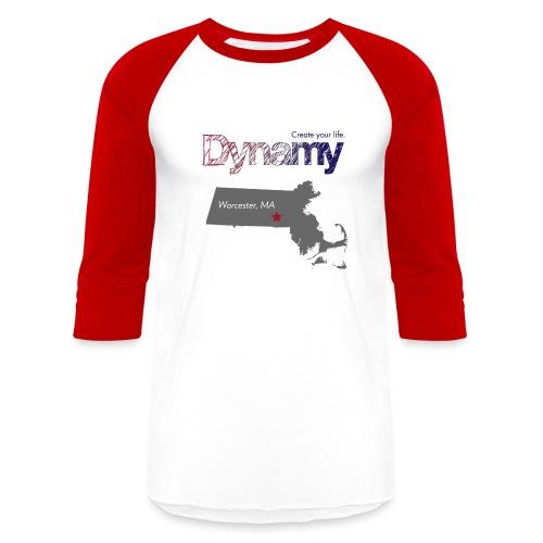 Worcester Map - Unisex Baseball T-Shirt