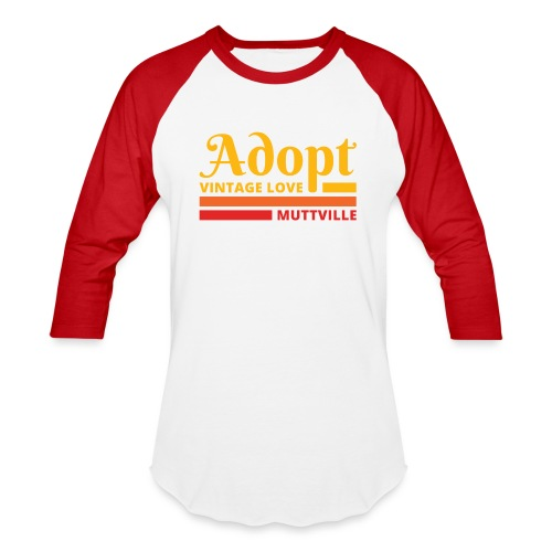Adopt Vintage Love retro colors - Unisex Baseball T-Shirt