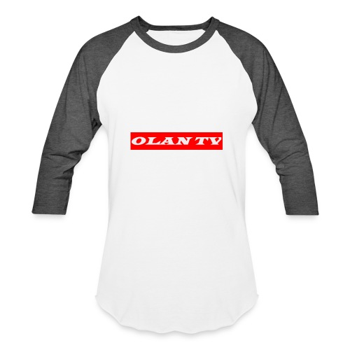 OLAN TV SUPREME TYPE LOGO - Baseball T-Shirt