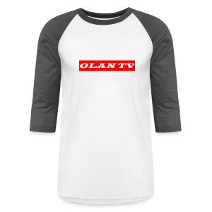 OLAN TV SUPREME TYPE LOGO - Baseball T-Shirt