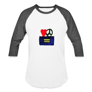 Peace, Love and Equality - Baseball T-Shirt
