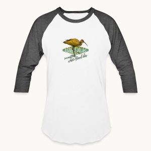 BIRDER - White-faced ibis - Carolyn Sandstrom - Baseball T-Shirt