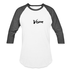 Vision Signature - Black Text - Baseball T-Shirt
