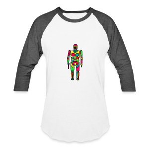 Cartoon Robocop in Color - Baseball T-Shirt