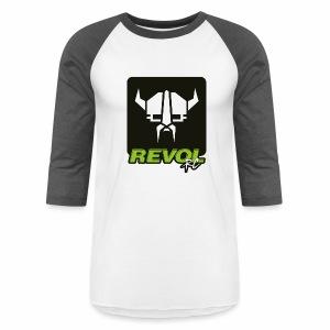 RevolRC Viking White on Black - Baseball T-Shirt