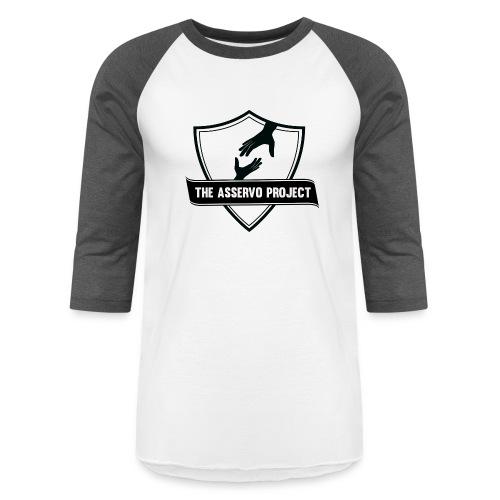 The Asservo Project Black Logo - Baseball T-Shirt