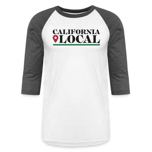 California Local Dark on Light - Unisex Baseball T-Shirt