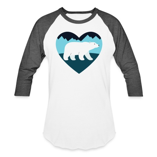 Polar Bear Love - Unisex Baseball T-Shirt