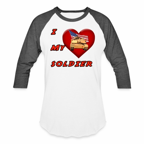 I Heart my Soldier - Baseball T-Shirt