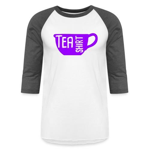 Tea Shirt Purple Power of Tea - Baseball T-Shirt