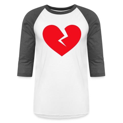 Broken Heart - Unisex Baseball T-Shirt