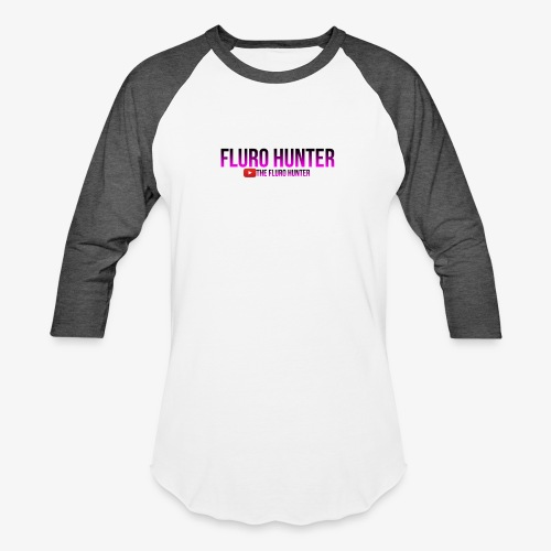 The Fluro Hunter Black And Purple Gradient - Baseball T-Shirt