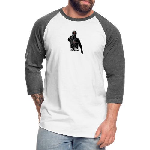 BU7N LOGO TRANSPARENT - Unisex Baseball T-Shirt