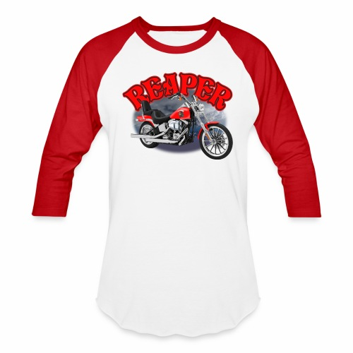 Motorcycle Reaper - Baseball T-Shirt