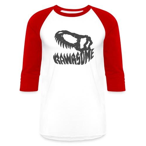 RAWRsome T Rex Skull by Beanie Draws - Baseball T-Shirt