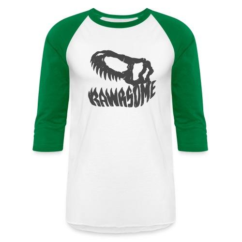 RAWRsome T Rex Skull by Beanie Draws - Unisex Baseball T-Shirt