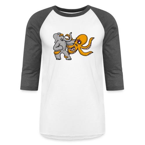 Elephant vs. Octopus Mug - Baseball T-Shirt