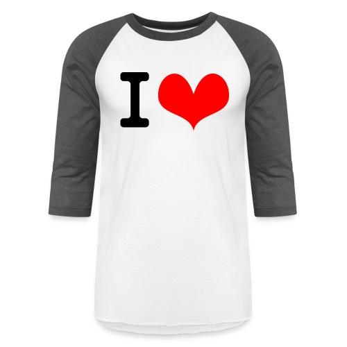 I Love what - Unisex Baseball T-Shirt