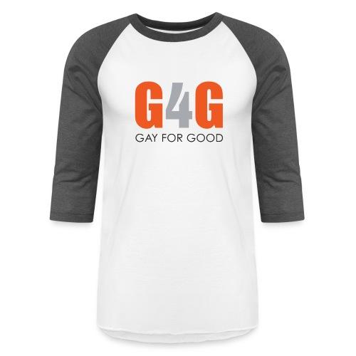 Gay For Good Logo Blk - Unisex Baseball T-Shirt