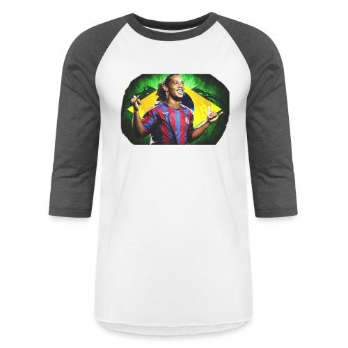 Ronaldinho Brazil/Barca print - Unisex Baseball T-Shirt