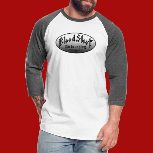 BloodShot Logo Black/White - Unisex Baseball T-Shirt