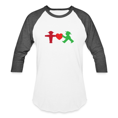 ampelmannchen love - Baseball T-Shirt