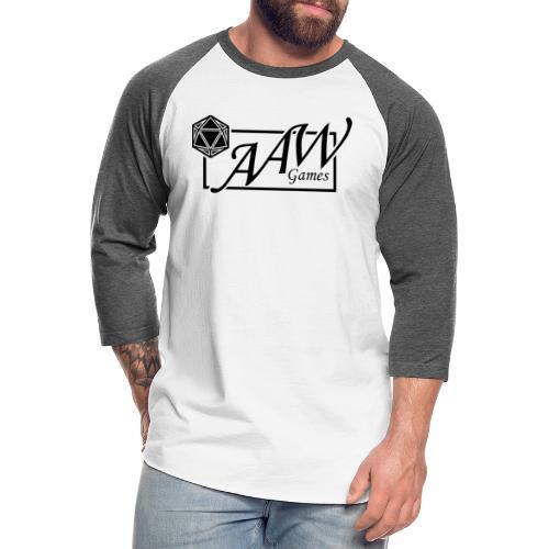 AAW Games (black logo) - Unisex Baseball T-Shirt