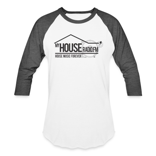My House Radio Black Logo - Baseball T-Shirt