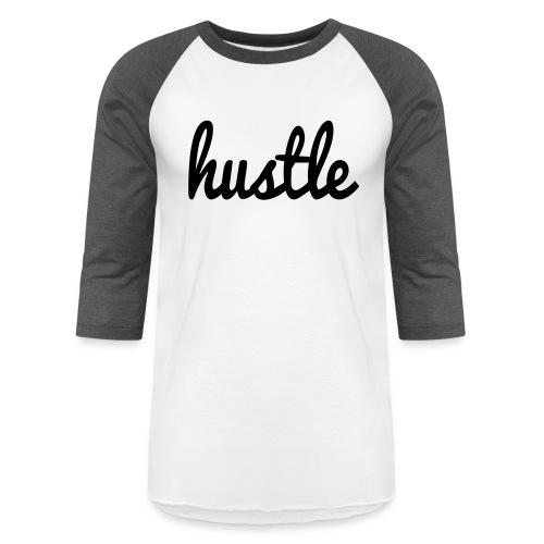 hustle vector - Unisex Baseball T-Shirt