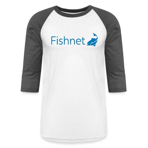 Fishnet (Blue) - Unisex Baseball T-Shirt