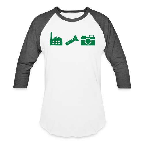 DCUE_Icons_Small - Unisex Baseball T-Shirt