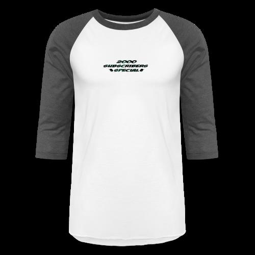 2k Subscribers Merch - Baseball T-Shirt