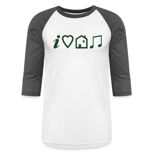 I Heart House Music - Symbolic Design 1 - Unisex Baseball T-Shirt