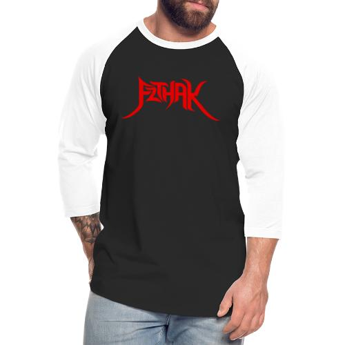 Tribal Logo (Red) - Unisex Baseball T-Shirt
