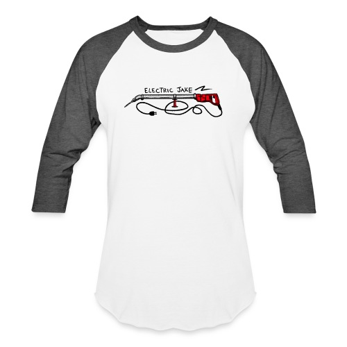 ELECTRIC JAKE - Unisex Baseball T-Shirt