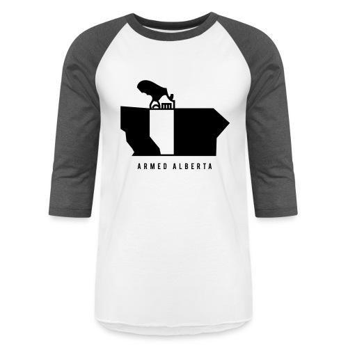 Armed Alberta - Unisex Baseball T-Shirt
