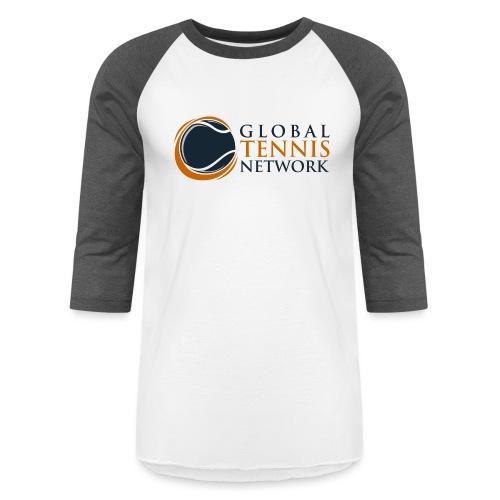 Global Tennis Network on White - Unisex Baseball T-Shirt