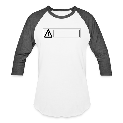 warning sign - Unisex Baseball T-Shirt