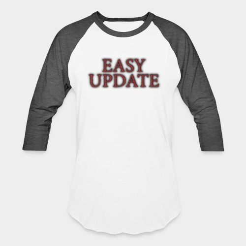 Easy Update Logo Red - Baseball T-Shirt